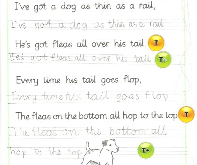 handwriting cursive sentences