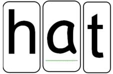 alphabet cards spelling hat