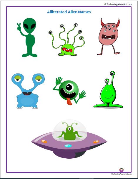 alliterated alien names activity