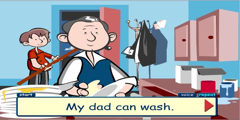 My Dad can wash