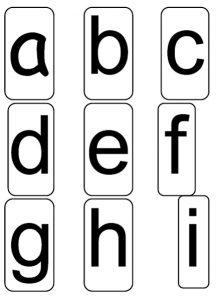 alphabet cards 1