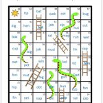 Phonics Blending CVC Words Snakes and ladders 1